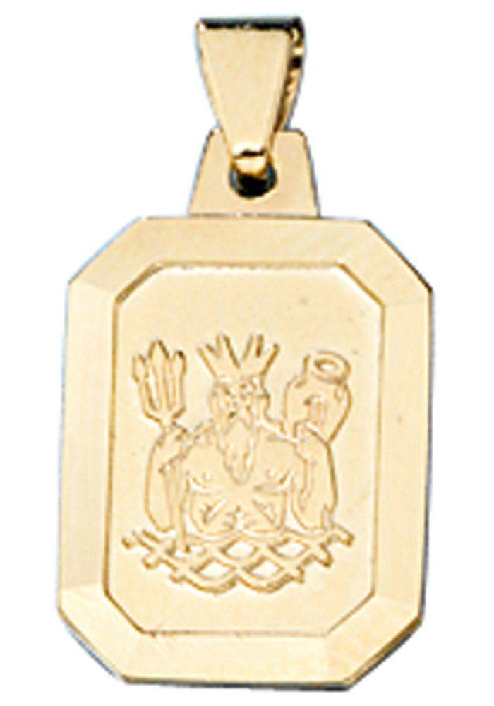 JOBO Sternzeichenanhänger Sternzeichen Wassermann 333 Gold