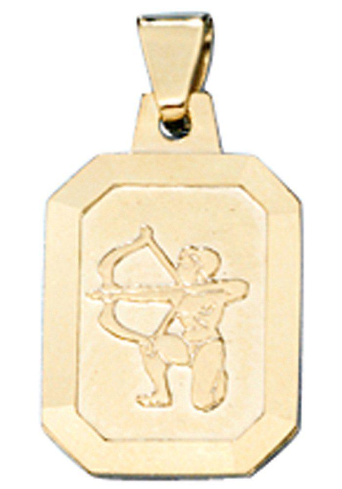 JOBO Sternzeichenanhänger Sternzeichen Schütze 333 Gold