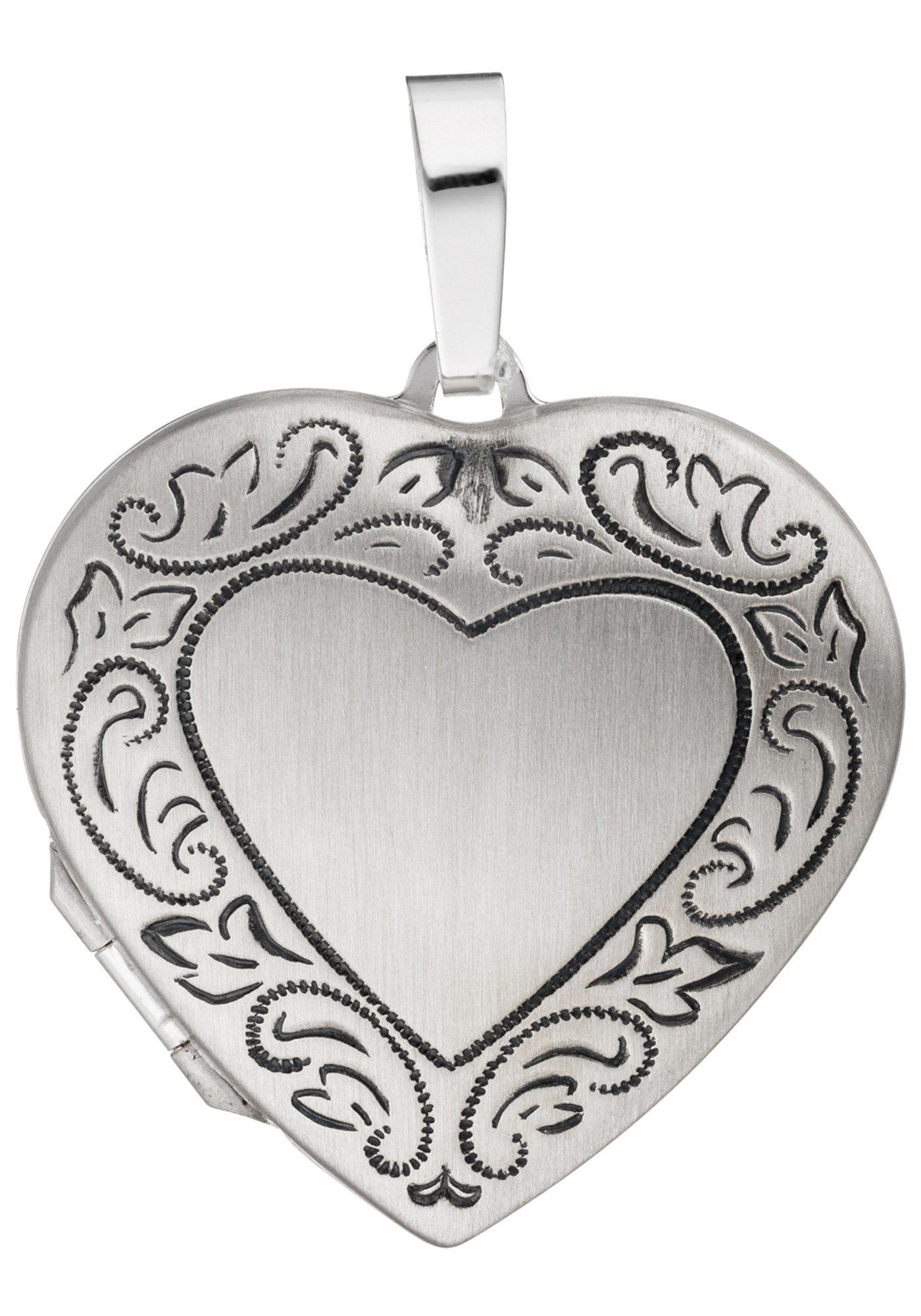 JOBO Medallionanhänger Herz 925 Silber