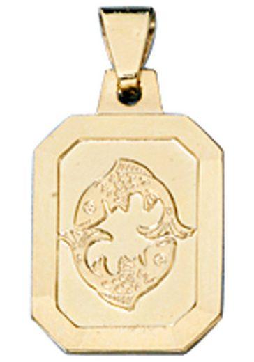 JOBO Sternzeichenanhänger Sternzeichen Fische 333 Gold