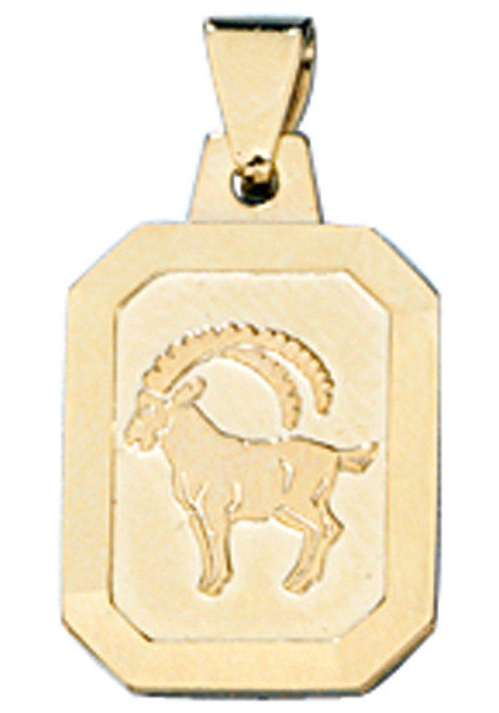 JOBO Sternzeichenanhänger Sternzeichen Steinbock 333 Gold