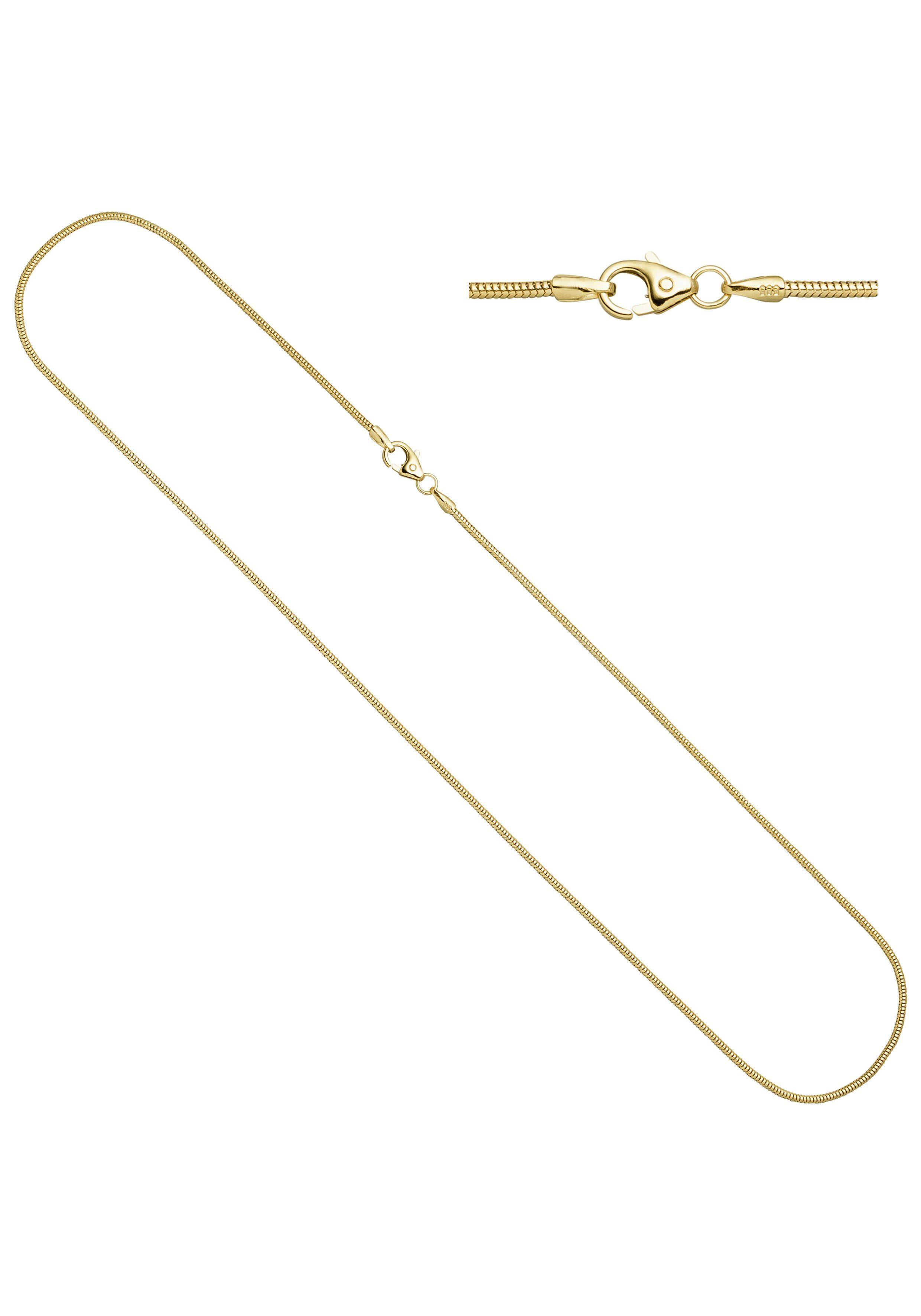 JOBO Goldkette Schlangenkette 585 Gold 45 cm 1,4 mm