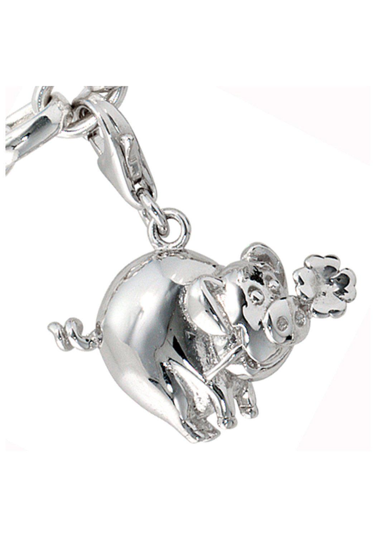 JOBO Charm-Einhänger »Glücksschwein« 925 Silber