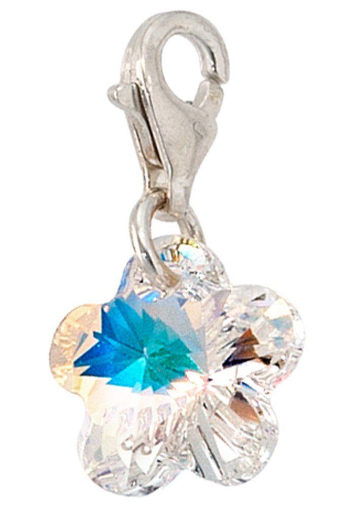 JOBO Charm Blume »Blume« 925 Silber mit SWAROVSKI® ELEMENT
