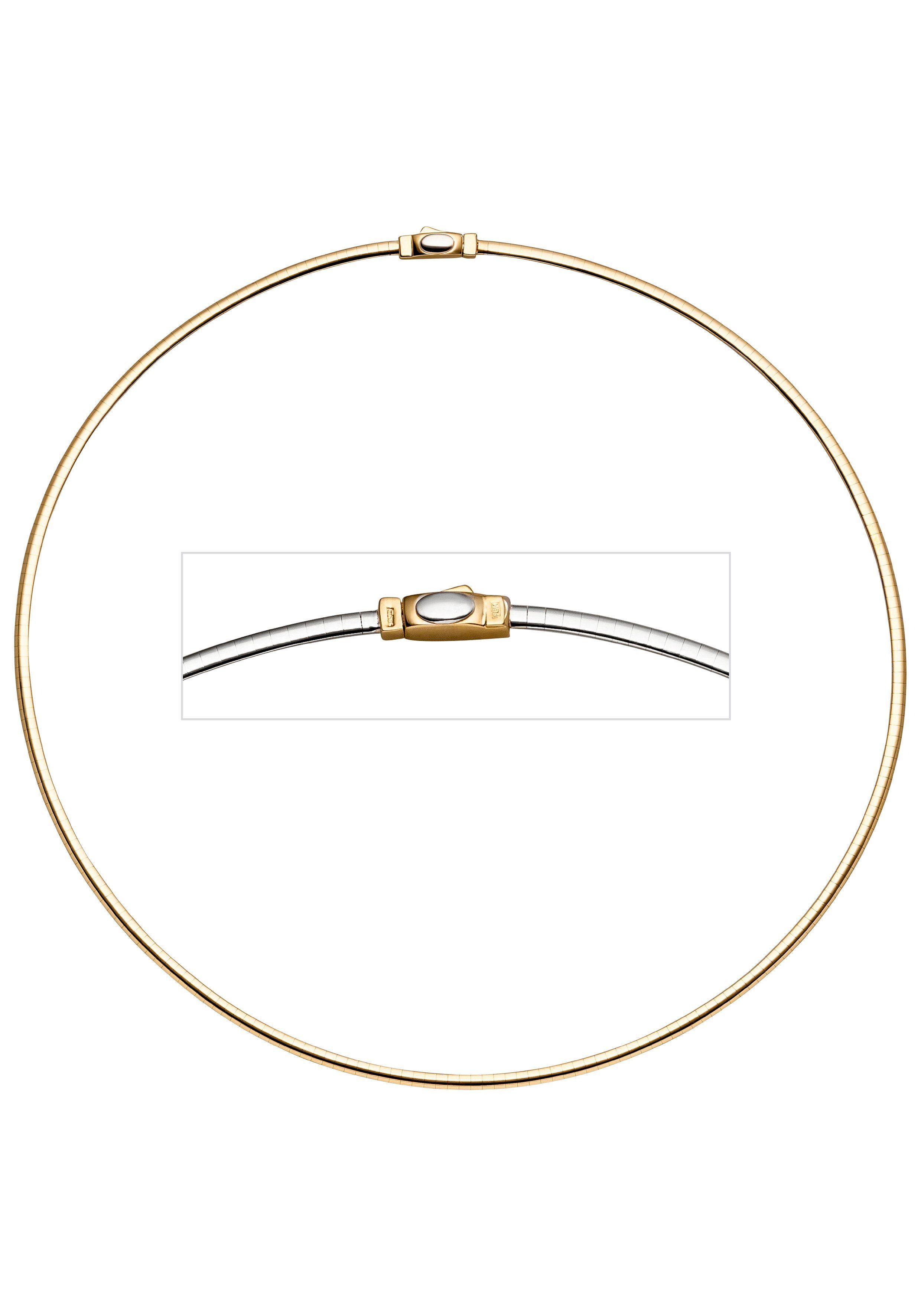 JOBO Halsreif 585 Gelbgold Weißgold 45 cm