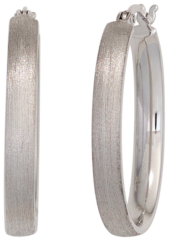 JOBO Paar Creolen oval 925 Silber