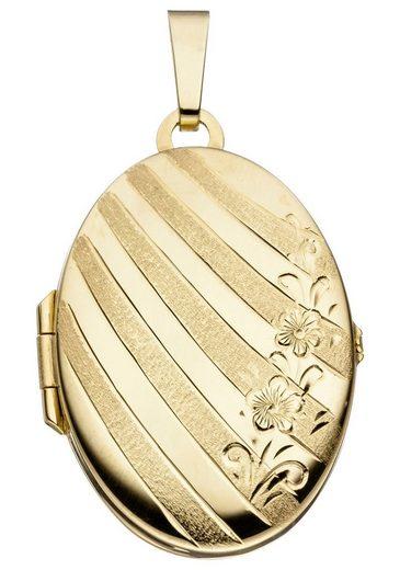 JOBO Medallionanhänger »Medaillon« oval 333 Gold
