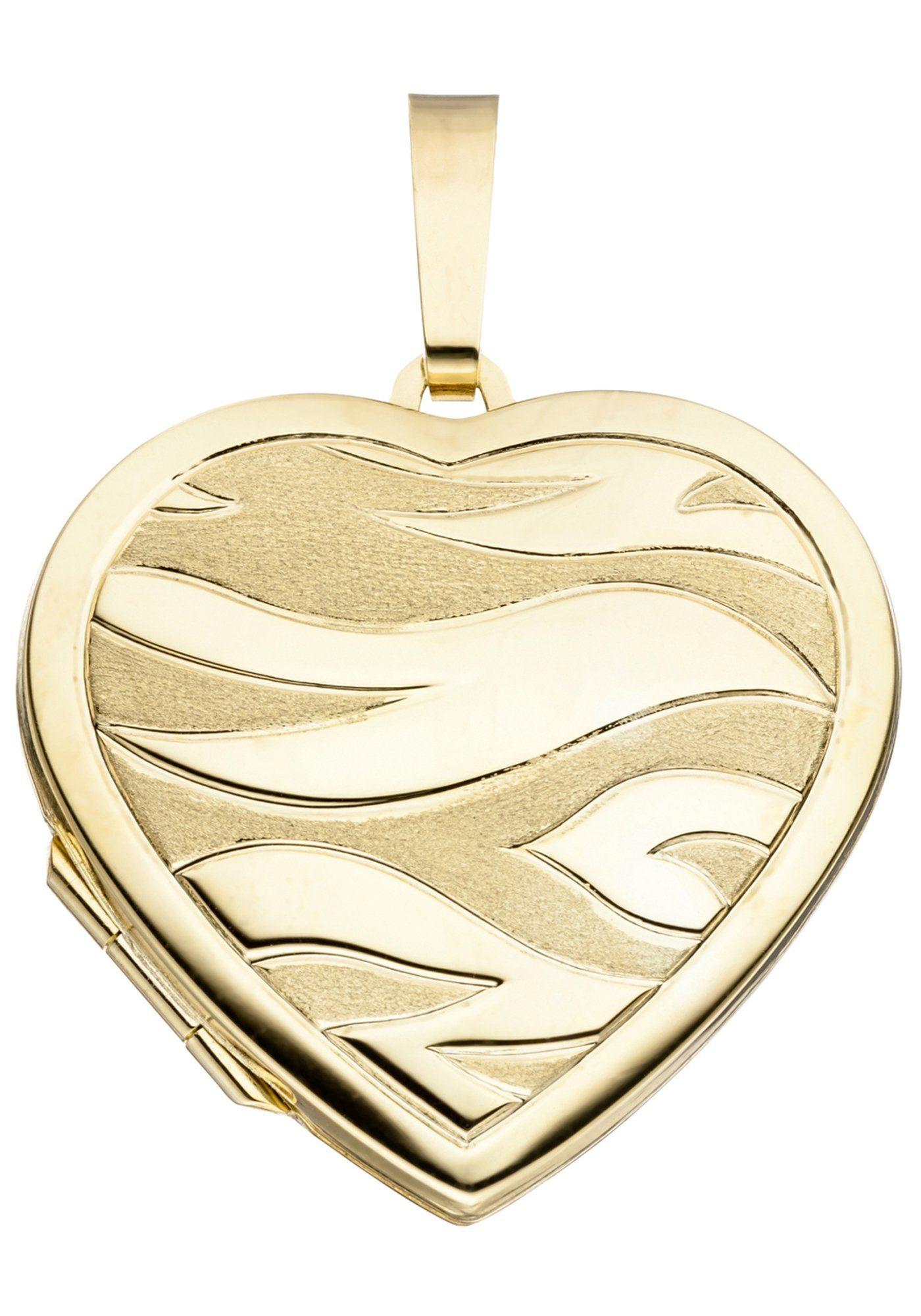 JOBO Medallionanhänger Herz 585 Gold