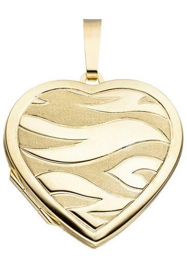 JOBO Medallionanhänger »Medaillon« Herz 585 Gold