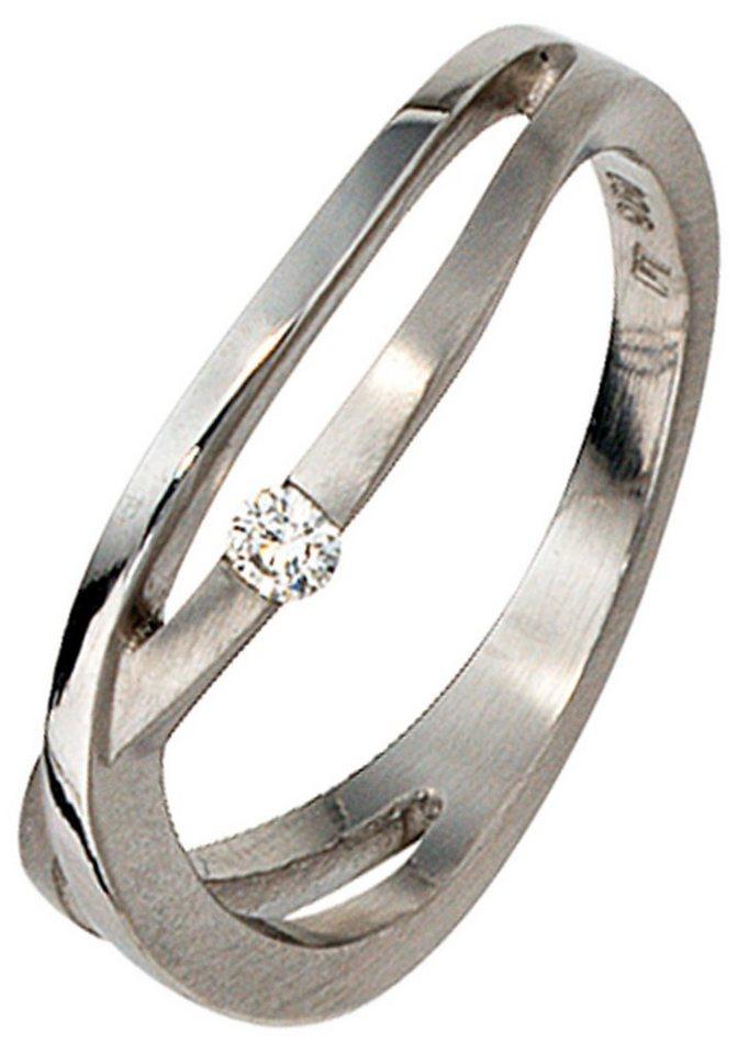 JOBO Solitärring 950 Platin mit 1 Diamant | Schmuck > Ringe > Solitär Ringe | Si | JOBO