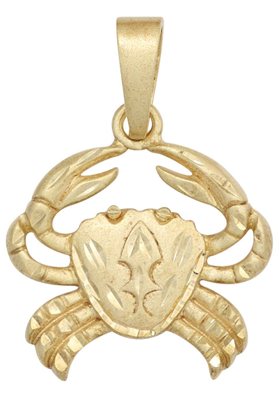 JOBO Sternzeichenanhänger Sternzeichen Krebs 585 Gold