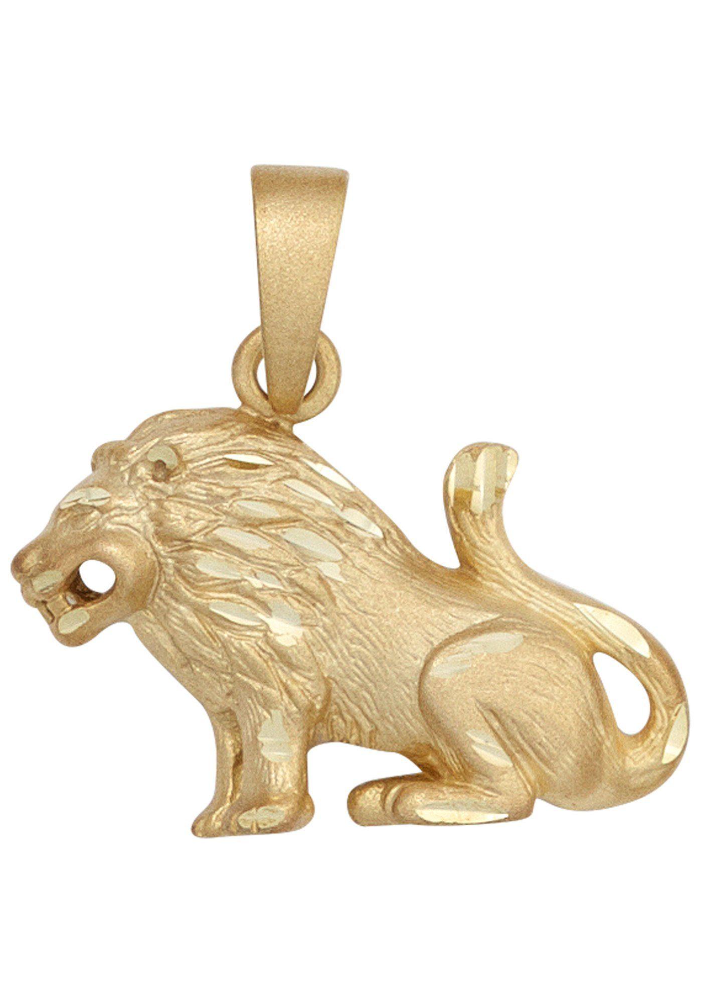 JOBO Sternzeichenanhänger Sternzeichen Löwe 585 Gold