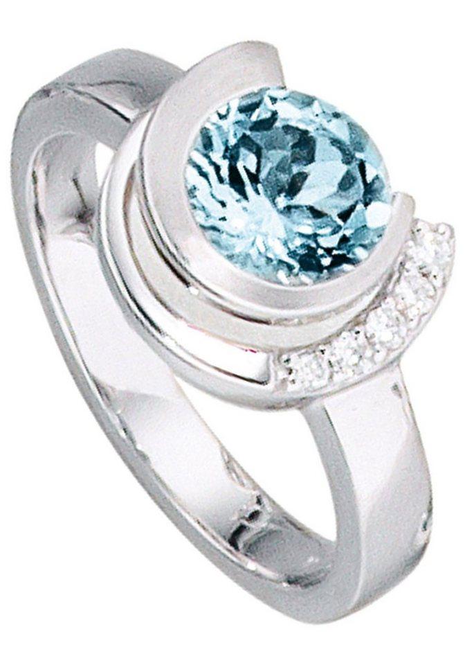 jobo diamantring 585 wei gold mit 5 diamanten und. Black Bedroom Furniture Sets. Home Design Ideas
