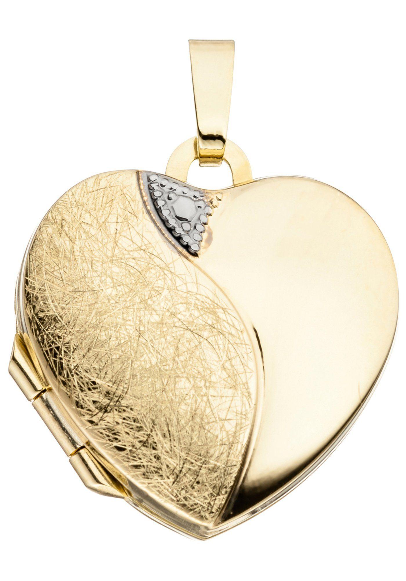 Herz Online 333 Gold Kaufen Jobo Medallionanhänger gYb76fyv