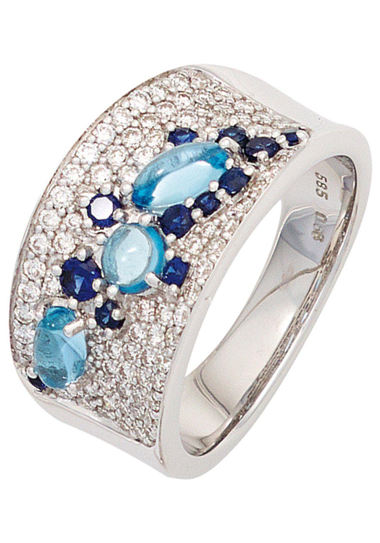 81 Online Blautopas Safir Diamanten Kaufen 585 Weißgold Diamantring Mit Jobo c5ARq4LS3j