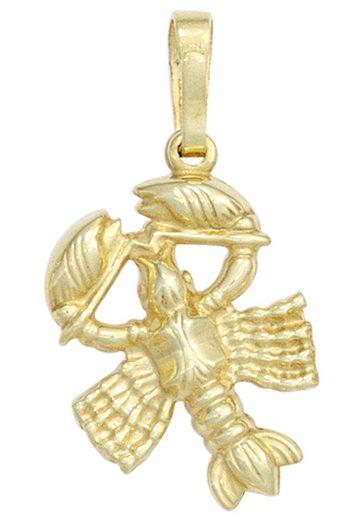 JOBO Sternzeichenanhänger Sternzeichen Krebs 333 Gold