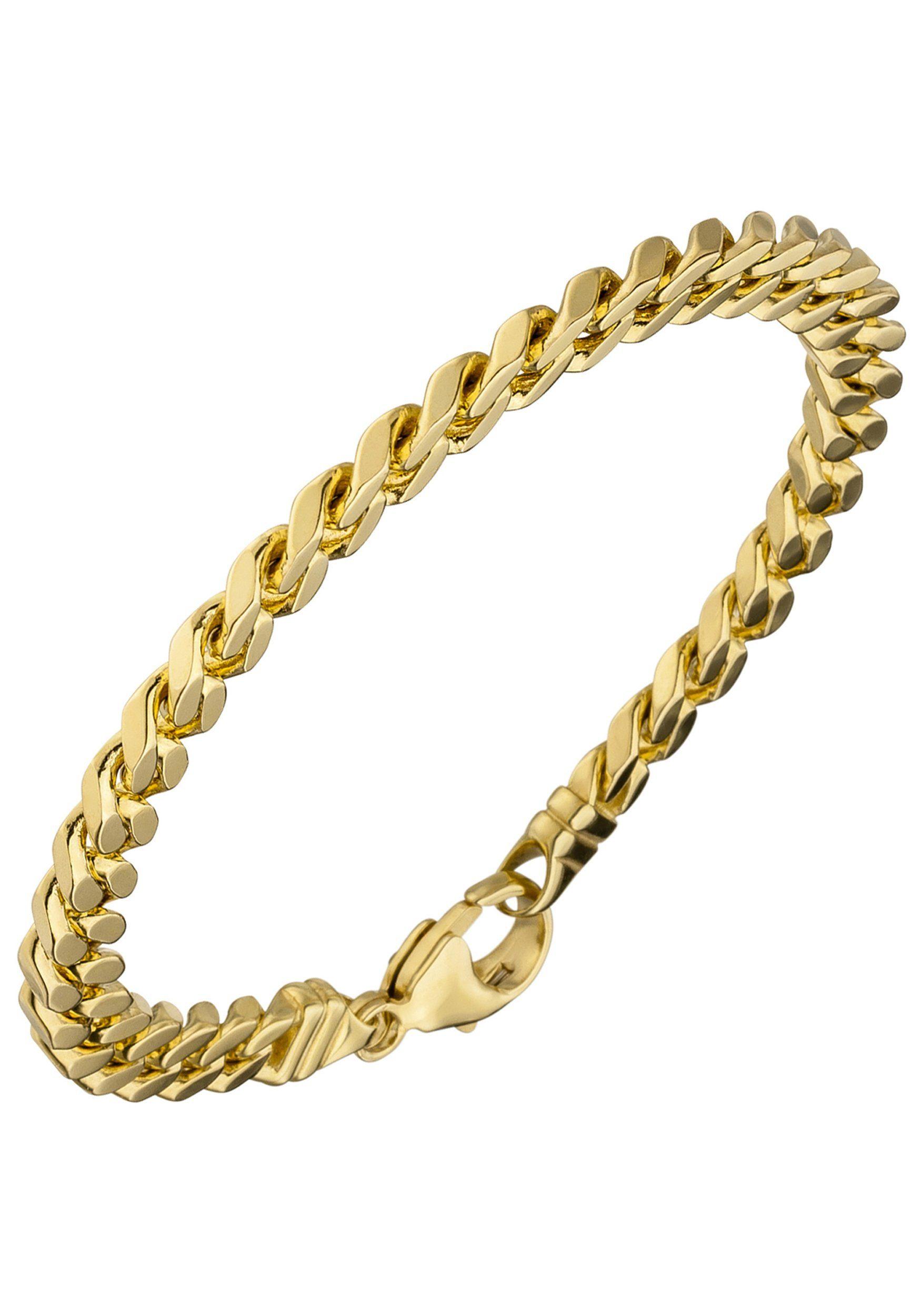 JOBO Goldarmband Panzerarmband 585 Gold massiv 19 cm