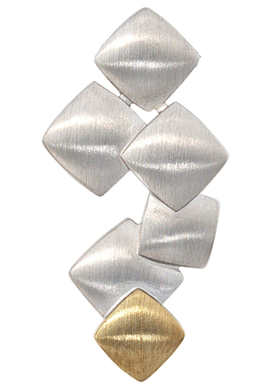 JOBO Kettenanhänger 925 Silber mit 585 Gold