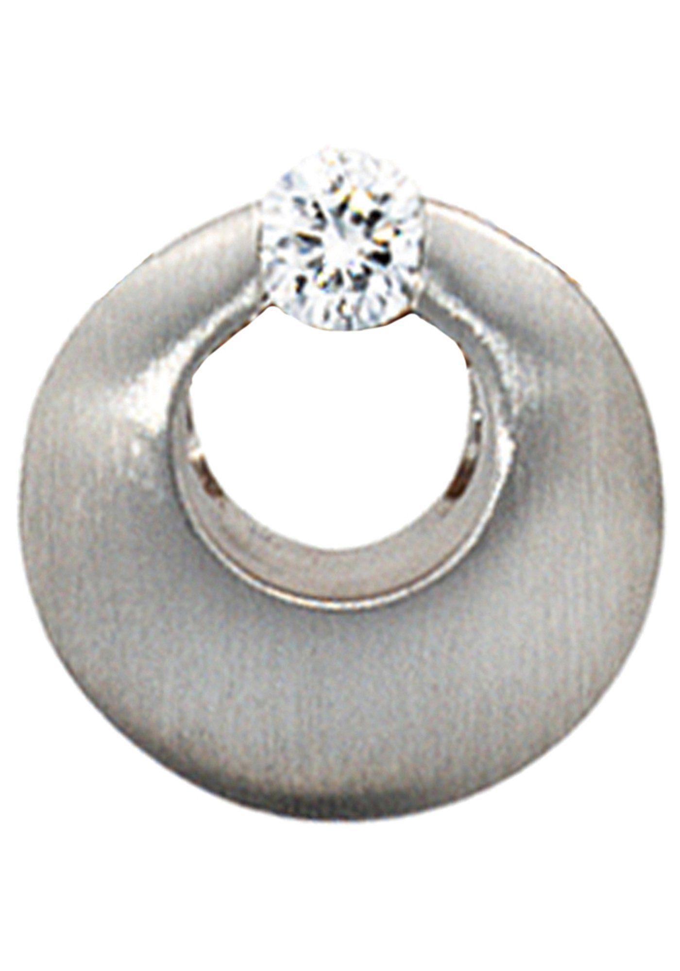 JOBO Runder Anhänger rund 950 Platin mit 1 Diamant