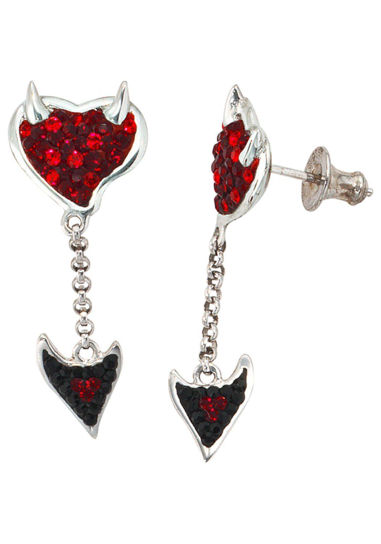 JOBO Paar Ohrhänger 925 Silber mit SWAROVSKI® ELEMENTS