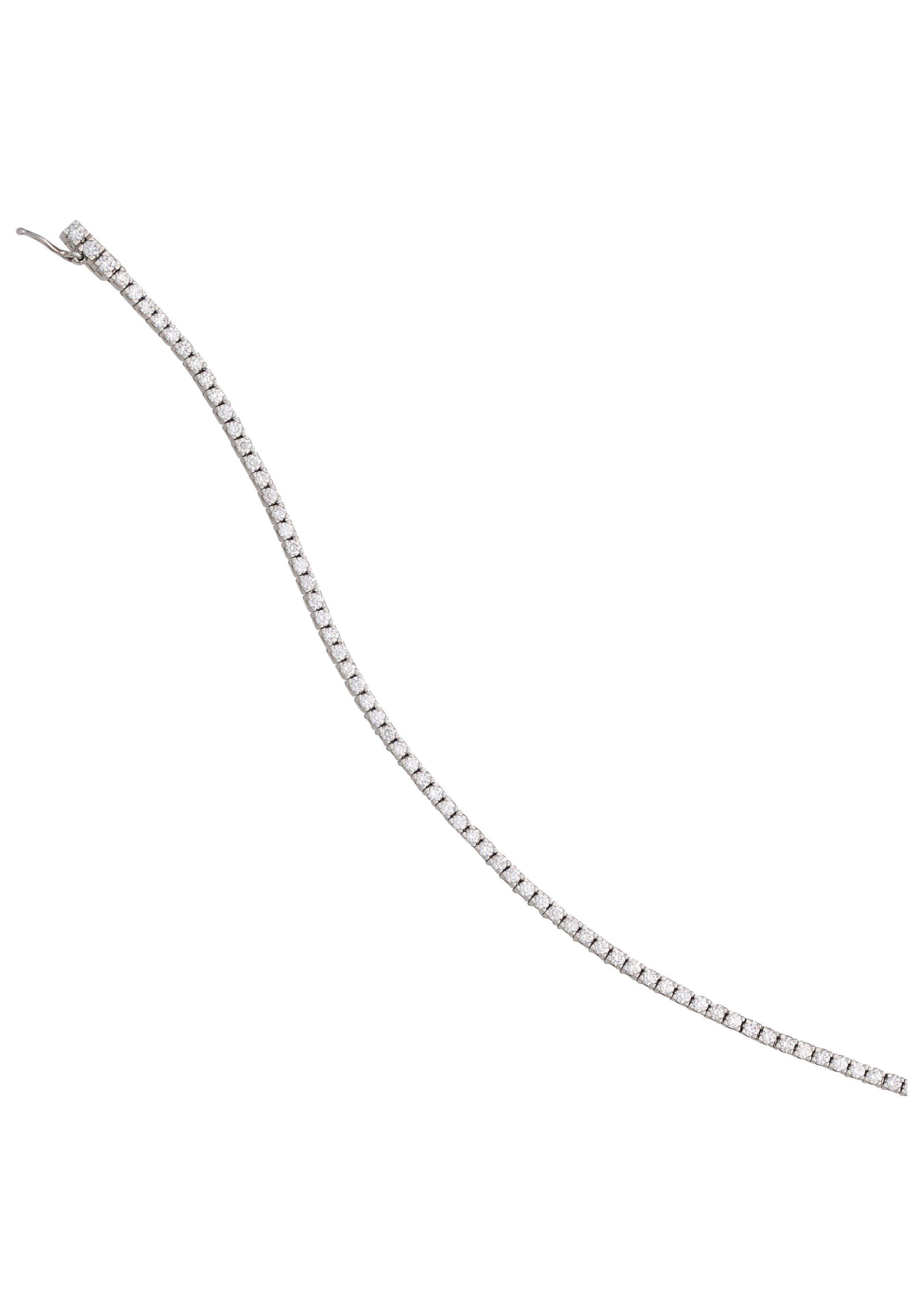 JOBO Goldarmband 750 Weißgold mit 83 Diamanten