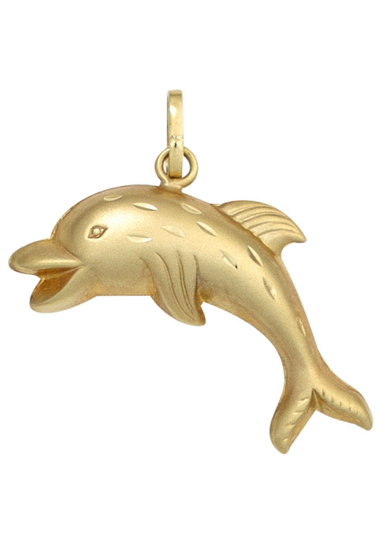 JOBO Kettenanhänger »Delfin« 333 Gold