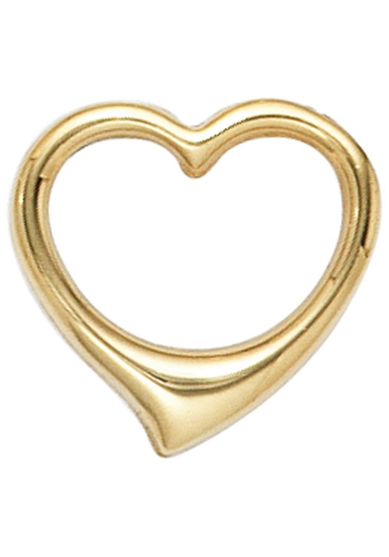 JOBO Herzanhänger »Schwingherz« 585 Gold | Schmuck > Halsketten > Herzketten | JOBO