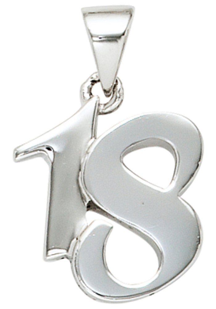 JOBO Kettenanhänger »18« 925 Silber massiv