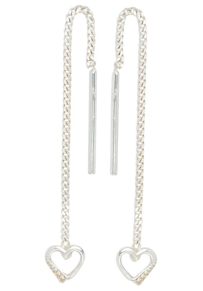 JOBO Paar Ohrhänger Herz 925 Silber