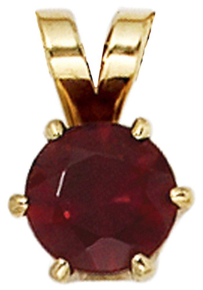 JOBO Kettenanhänger 585 Gold mit Granat
