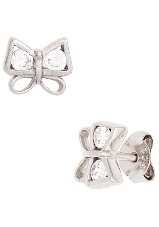 JOBO Paar Ohrstecker »Schmetterling« 925 Silber mit Zirkonia
