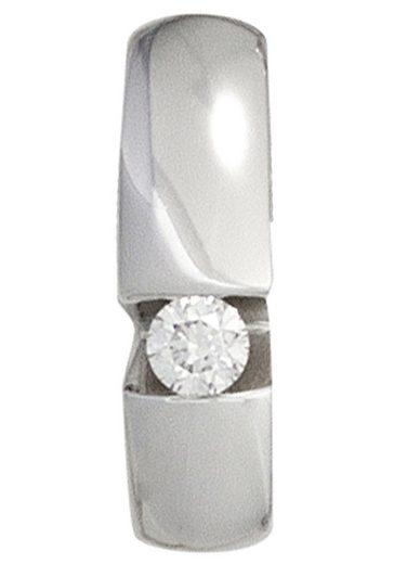 JOBO Kettenanhänger, 585 Weißgold mit 1 Diamant