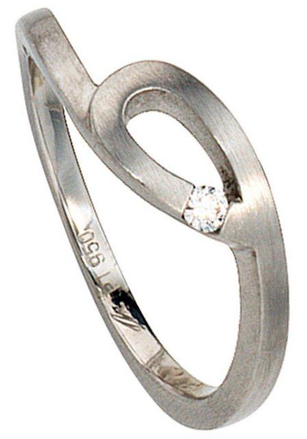 JOBO Solitärring, 950 Platin mit Diamant 0,04 ct. | Schmuck > Ringe | Jobo