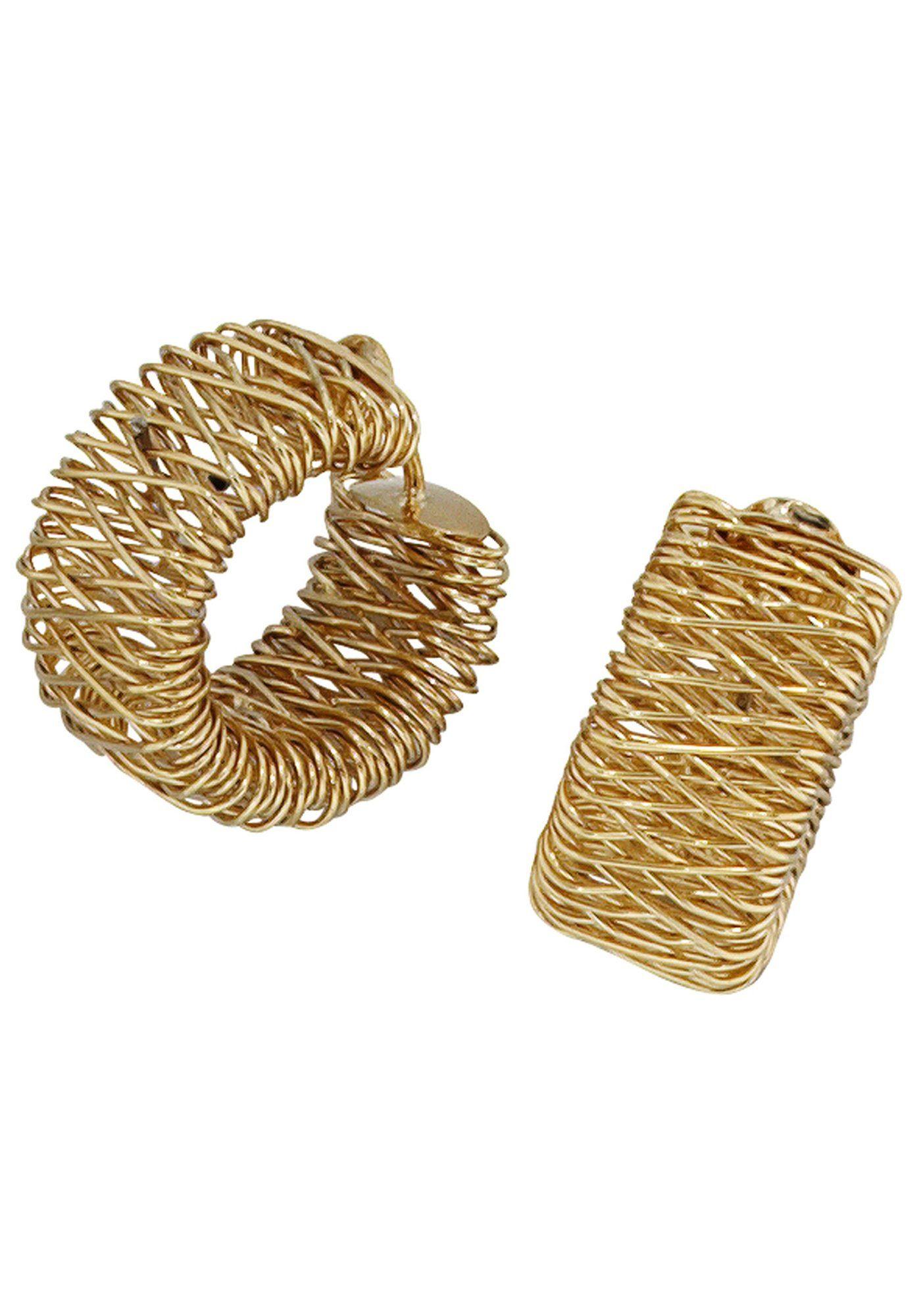 JOBO Paar Creolen breit 585 Gold