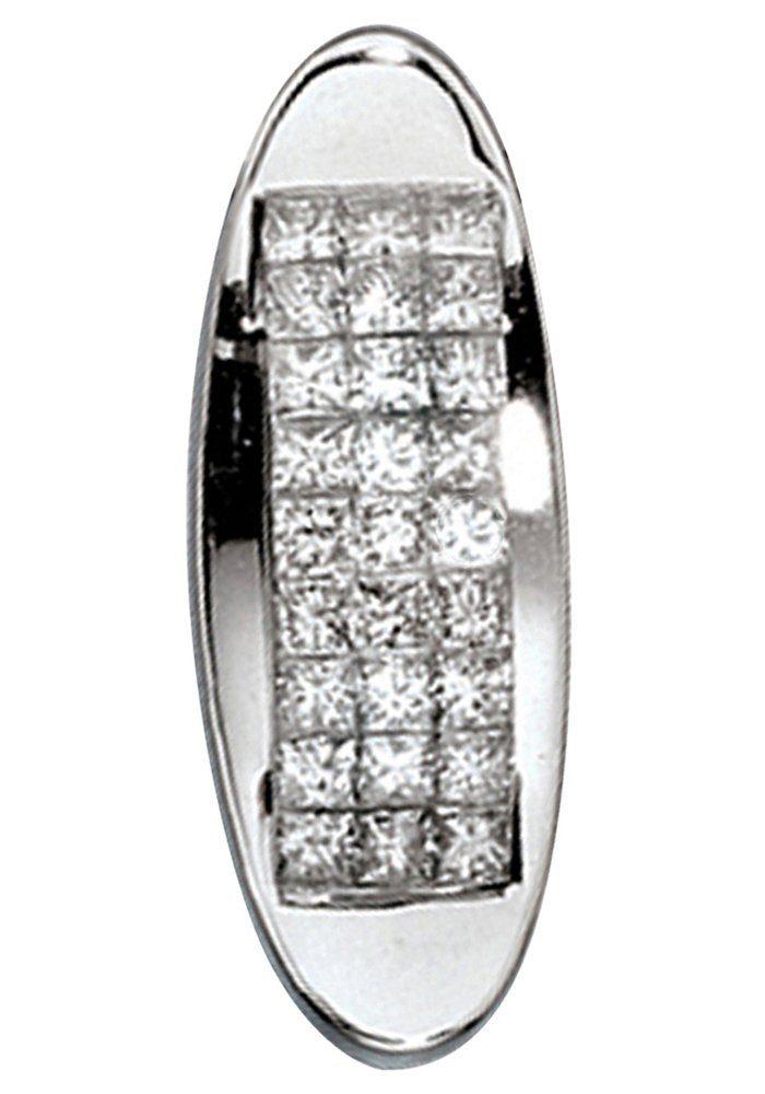 JOBO Kettenanhänger 750 Weißgold mit 27 Diamanten