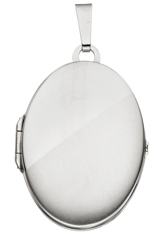 JOBO Medallionanhänger oval 585 Weißgold