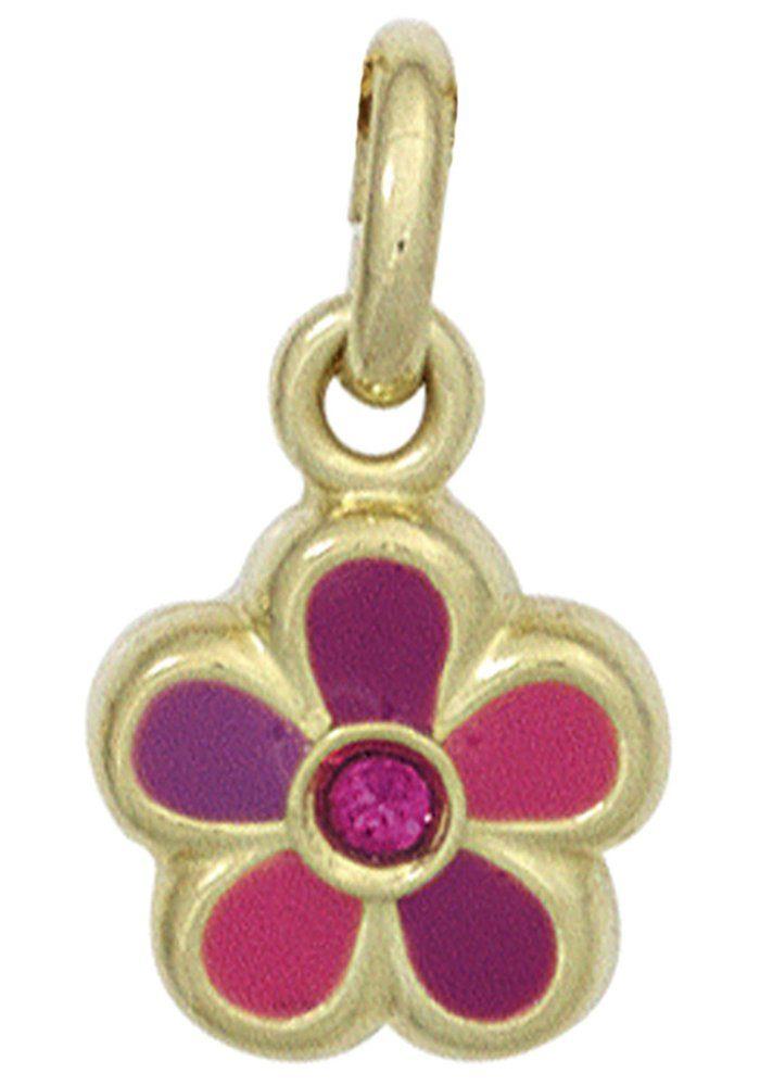 JOBO Blumenanhänger »Blume« 333 Gold mit einem Glasstein