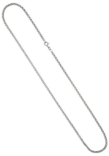 JOBO Silberkette, Erbskette 925 Silber 50 cm 2,5 mm