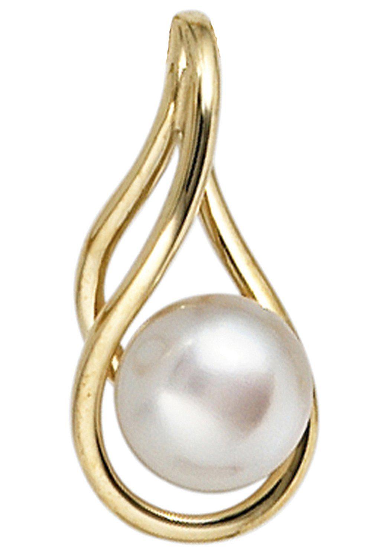 JOBO Perlenanhänger 585 Gold mit einer Süßwasser-Zuchtperle