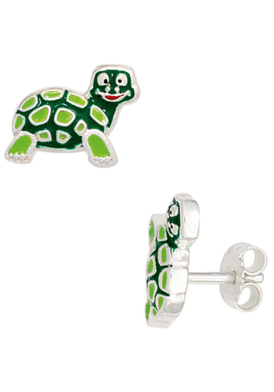 JOBO Paar Ohrstecker »Schildkröte« 925 Silber