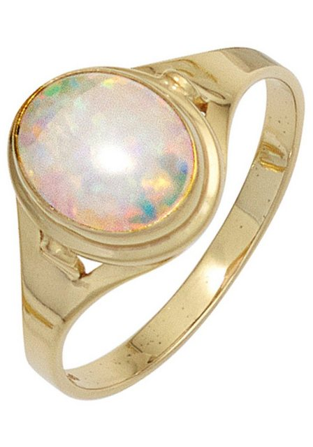 JOBO Goldring 333 Gold mit synthetischem Opal   Schmuck > Ringe > Goldringe   Goldfarben   JOBO