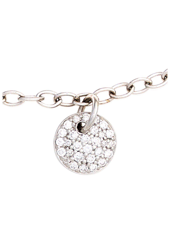 JOBO Goldarmband 585 Weißgold mit 29 Diamanten