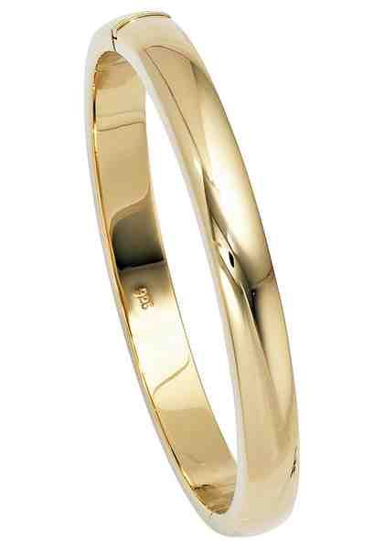 JOBO Armreif »Oval« oval 925 Silber vergoldet