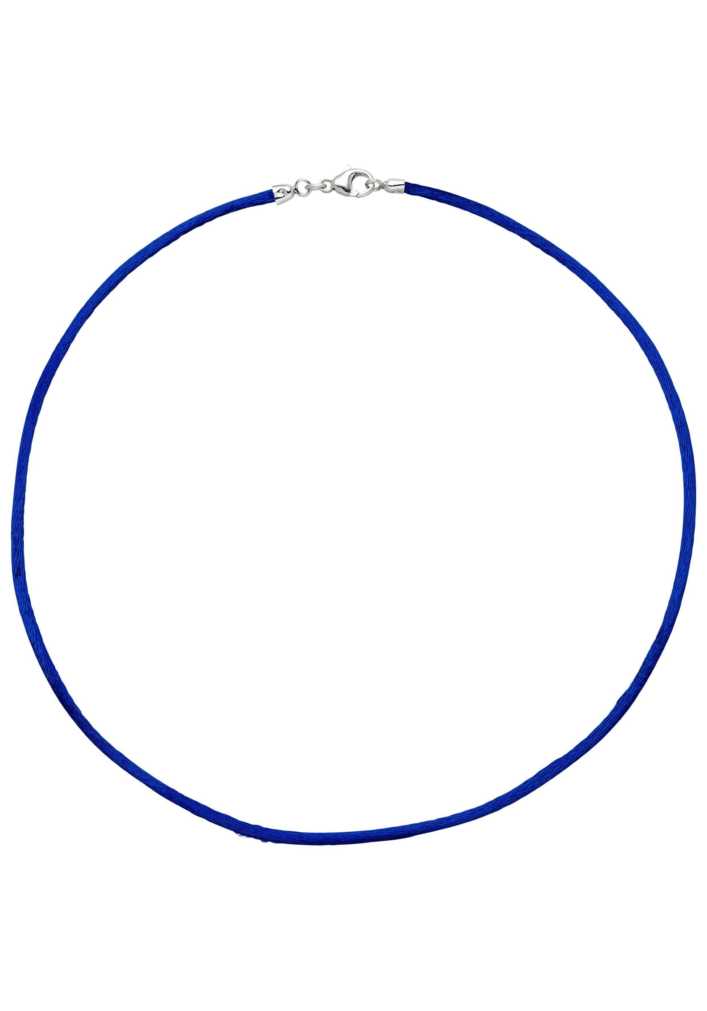 JOBO Kette ohne Anhänger Seidenkette blau 42 cm 2,8 mm