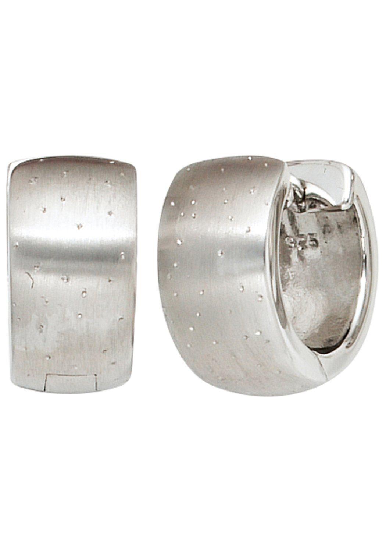 JOBO Paar Creolen breit rund 925 Silber