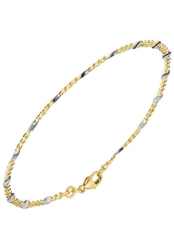 JOBO Goldarmband Steg-Panzerarmband 333 Gold massiv 19 cm | Schmuck > Armbänder > Goldarmbänder | Goldfarben | JOBO