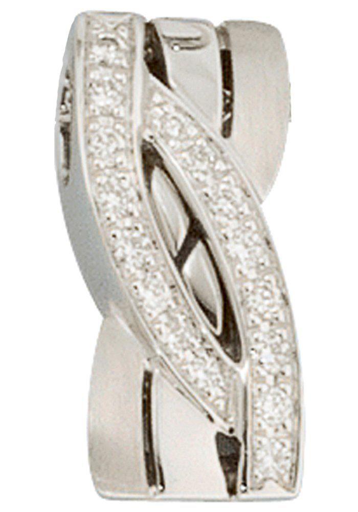 JOBO Kettenanhänger 585 Weißgold mit 16 Diamanten