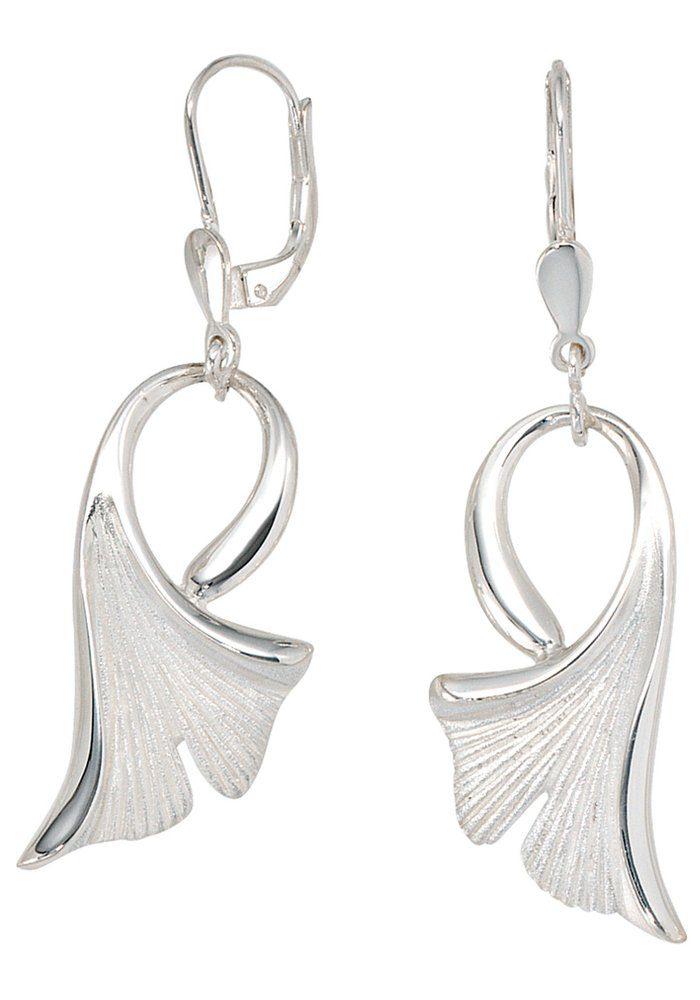 JOBO Paar Ohrhänger »Ginko« 925 Silber