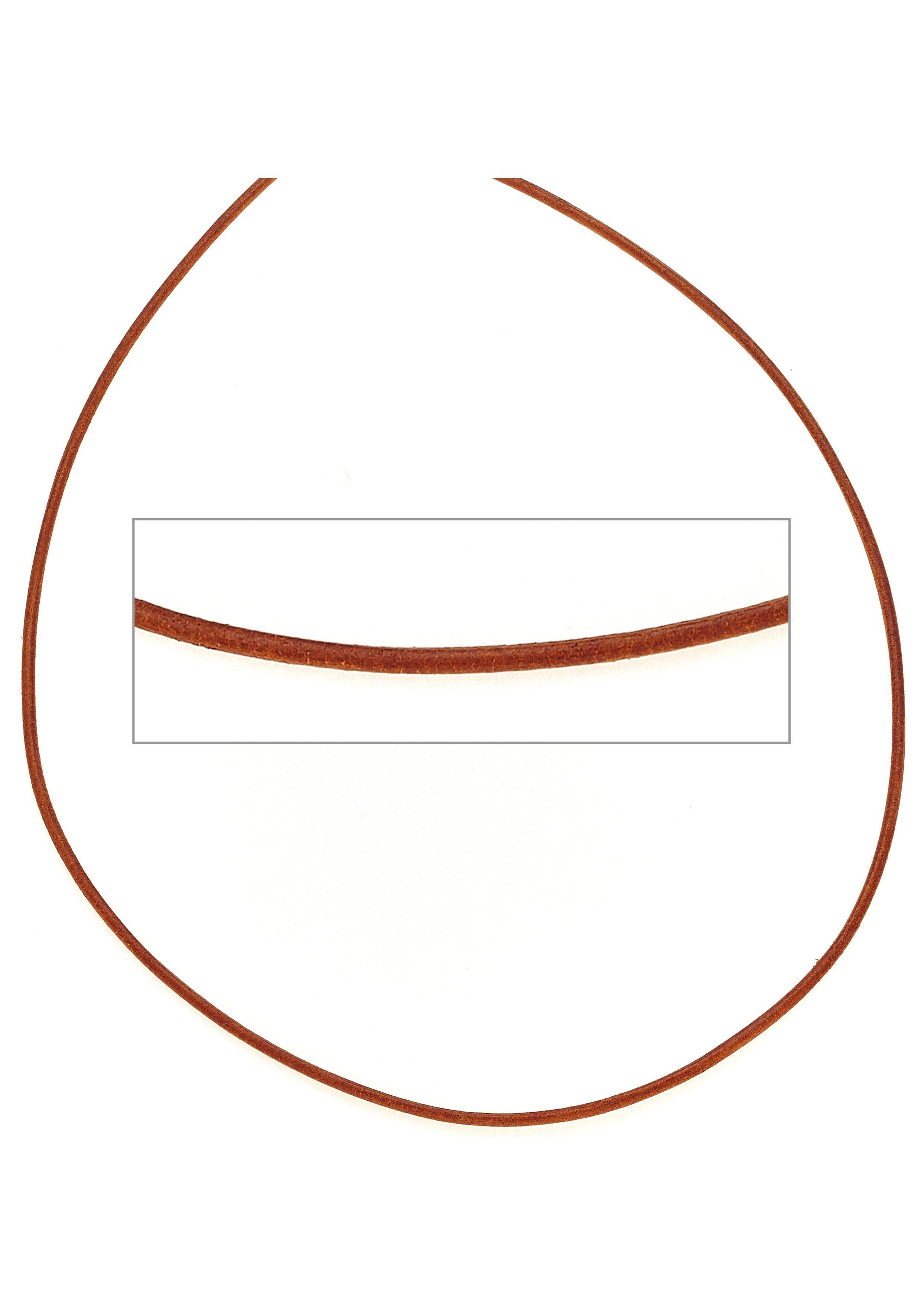 JOBO Kette ohne Anhänger Leder orange