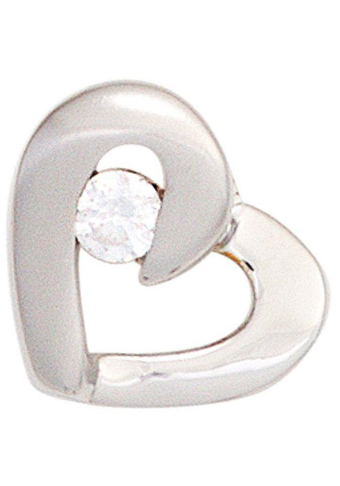 JOBO Herzanhänger »Herz« 925 Silber mit Zirkonia | Schmuck > Halsketten > Herzketten | JOBO